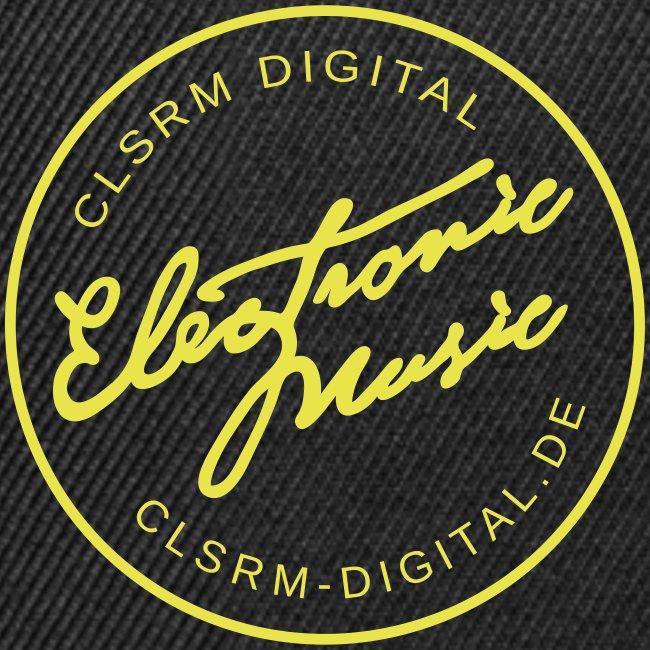 "Cap Badge ""Electronic Music"" Black / Yellow"