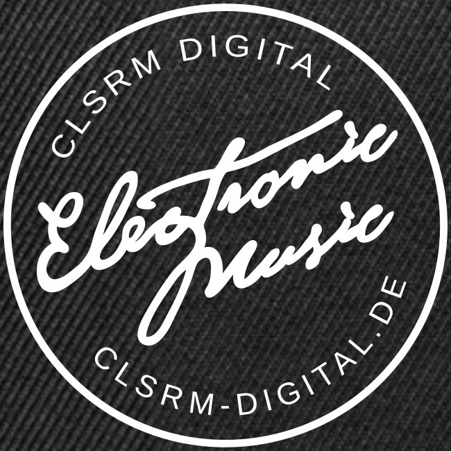 "Cap Badge ""Electronic Music"" Black / White"