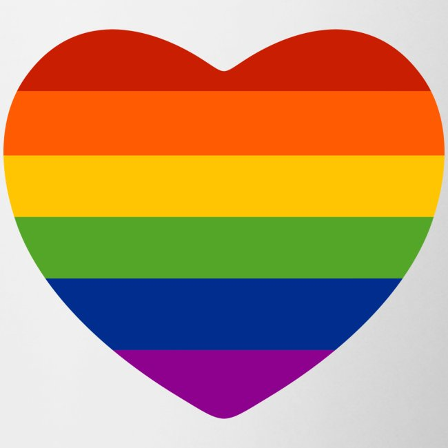 Regenbogen-Herz Tasse