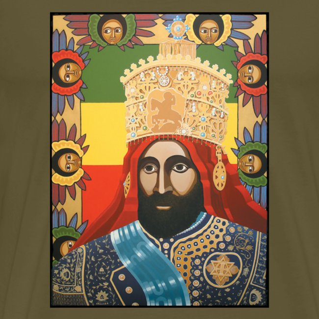 Haile Selassie I - Jah Rastafari Art - Shirt