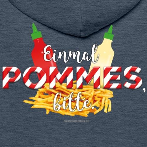Pommes Schranke T-Shirt - lustiger Spruch
