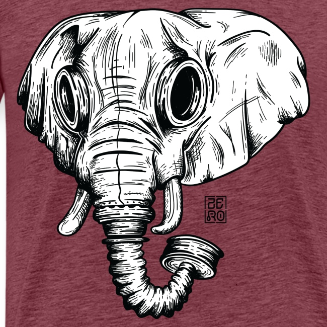 elephant ico bl wht