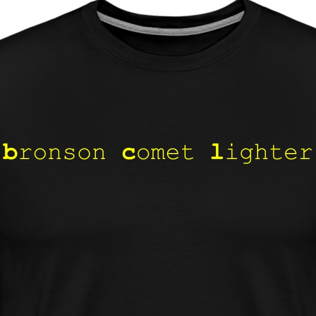bronson comet lighter male t-shirt