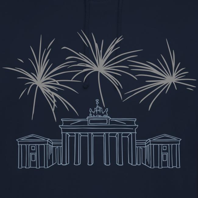 BERLIN  Feuerwerk Silvester am Brandenburger Tor.