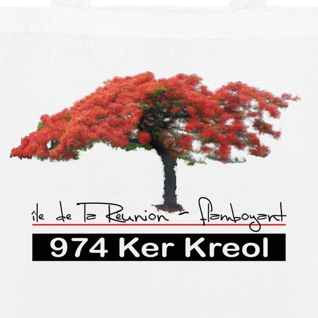 Sac en tissu biologique Flamboyant 974 Ker Kreol