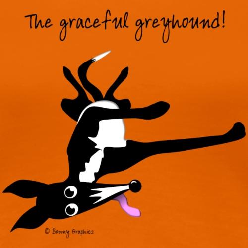 Graceful greyhound black