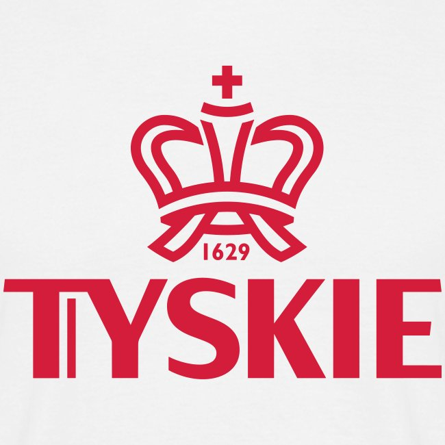 Tyskie Logo plain (weiß/Männer)