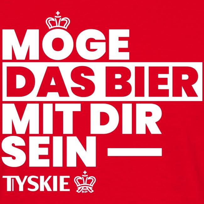 Möge das Bier mit Dir sein (rot/Männer)