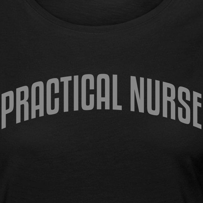 Practical nurse, glitter painatuksella