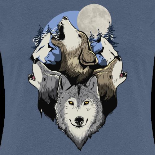 Wolf Wolves pack motif pleine lune pack cadeau montagne