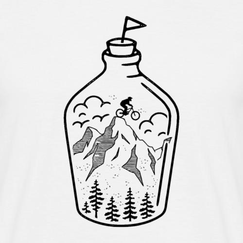 Biker dans une bouteille (fond clair)
