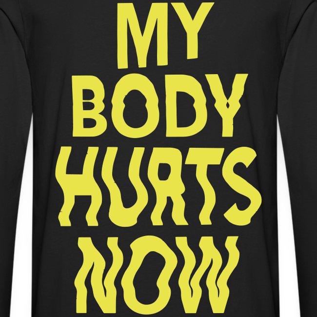 Body hurts long black yellow