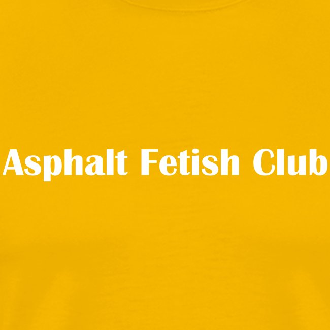 Asphalt fetish club tee yellow
