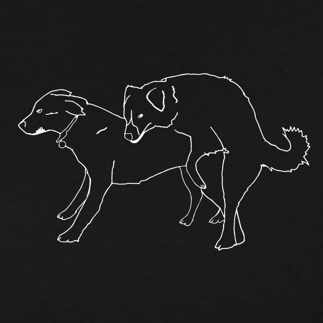 Doggies black tee with white print