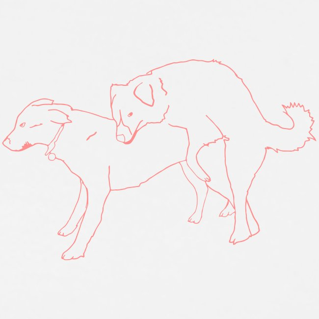 Doggies white with pink print