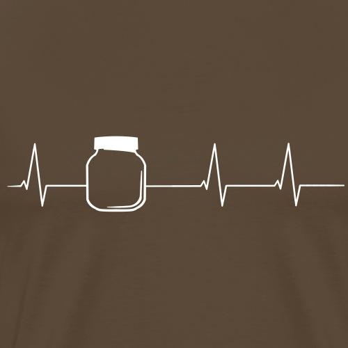 Herzschlag Nougatglas