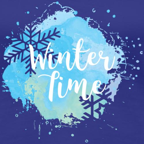 Glace de cadeau de Noël de flocon de neige de l'heure d'hiver
