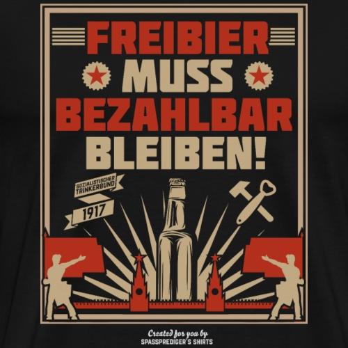 Bier T Shirt Freibier | Biertrinker-Geschenkidee