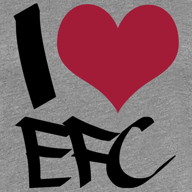 "T-Shirt Frauen ""I love EFC"""