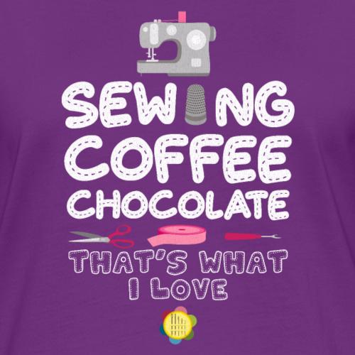coudre du café au chocolat Coudre à tricoter maman grand-mère