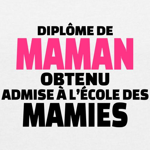 diplôme de maman obtenu admise à l'école de mamies