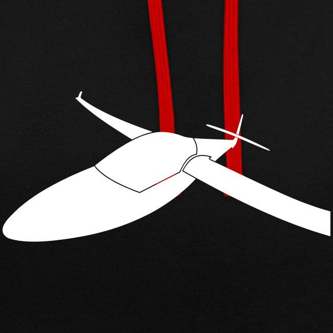 3D Effekt Segelflugzeug Segelflieger Geschenk Tshirt