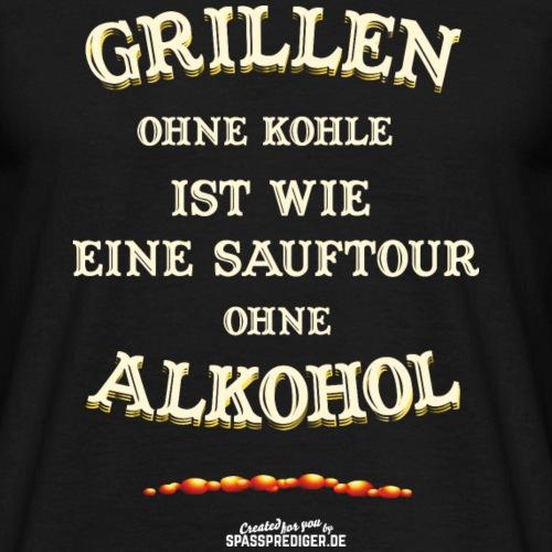 Grill T Shirt Grillen ohne Kohle | Gasgriller