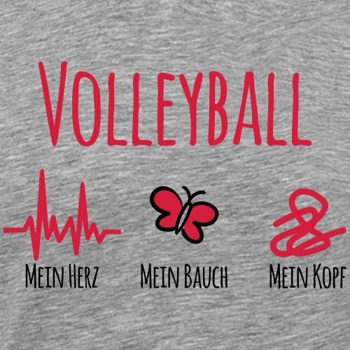Volleyball Herz Bauch Kopf