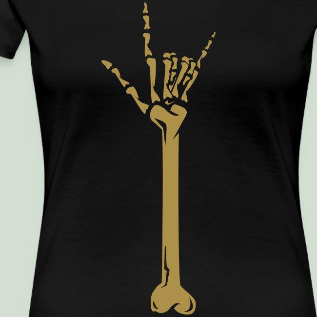 Deaf Skull with ILY Handsign GOLD