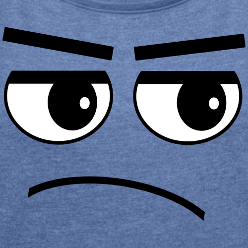 Pessimist Genervt Schlechte Laune Augen Gesicht