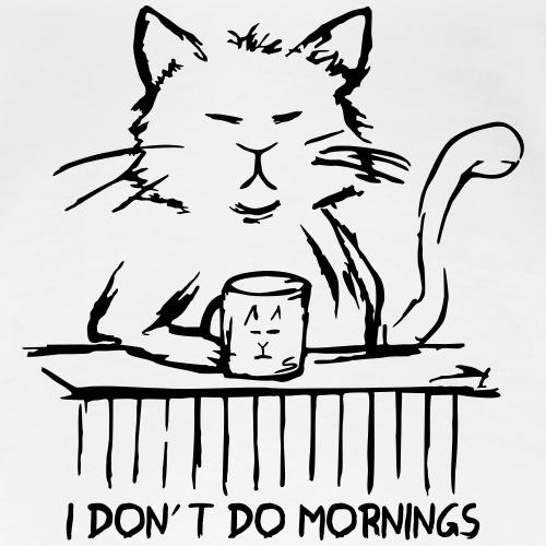 Sehr müde Katze mit Tee / Kaffee-Tasse - Sketch