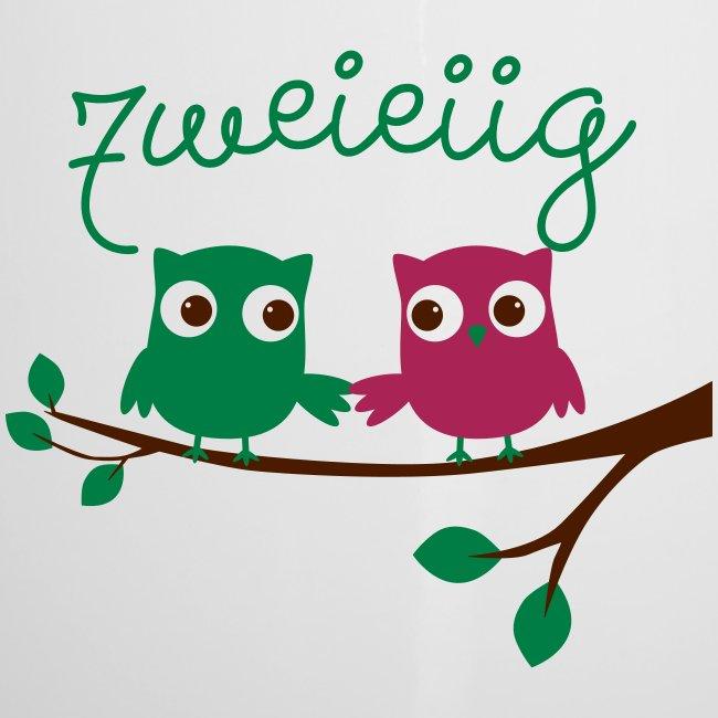"""Tasse """"Zweieiig"""" für Zwillinge"""