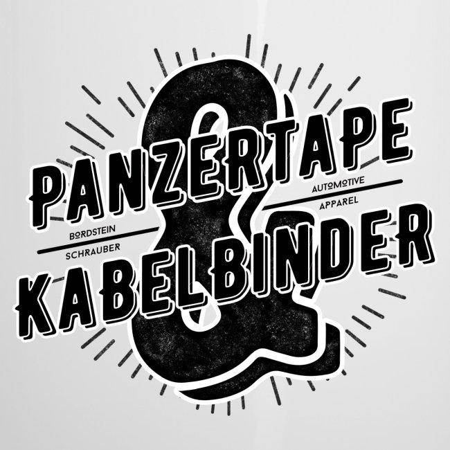 """BRDSTN Emaille Tasse """"Panzertape & Kabelbinder"""""""