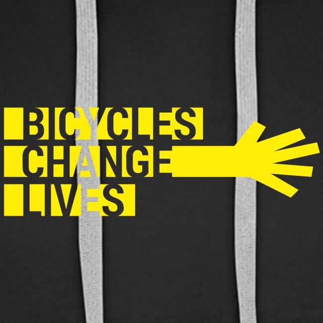 BCL Yellow Hand Hoodie Mens
