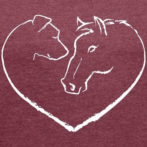 horse_dog_love_white
