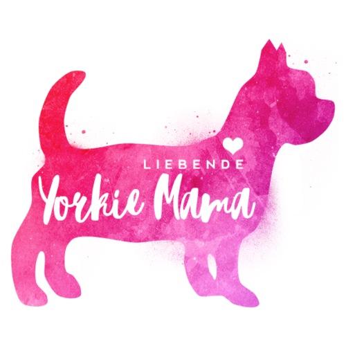 Liebende Yorkshire Terrier Mama