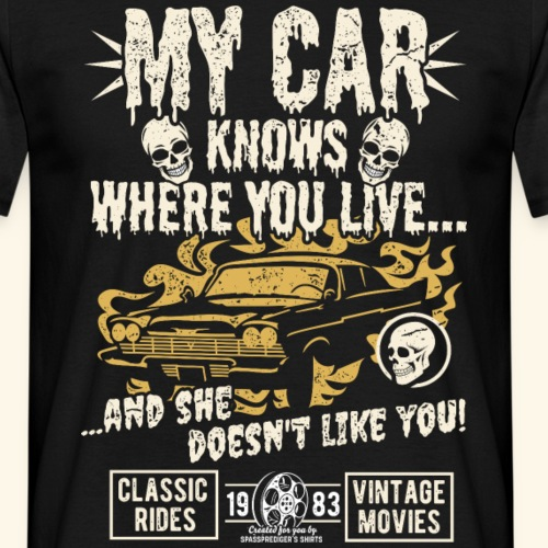 Horror Film Fan T Shirt My Car Knows
