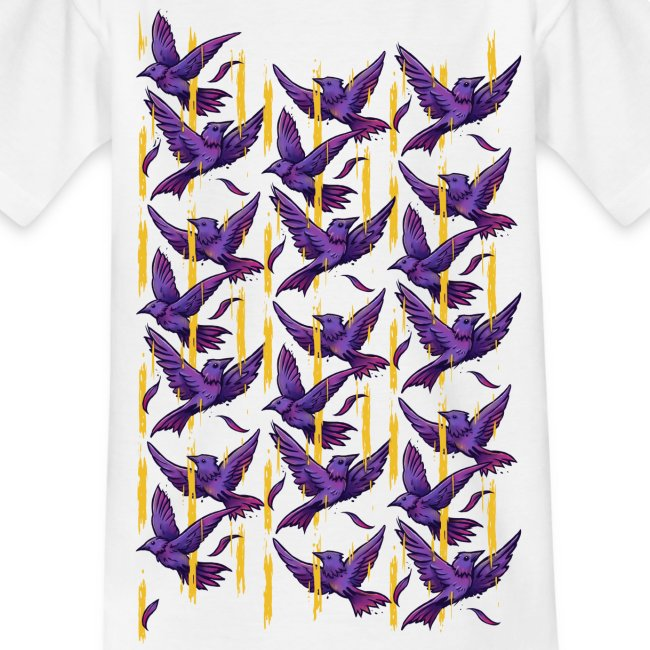 Purple Birds Pattern