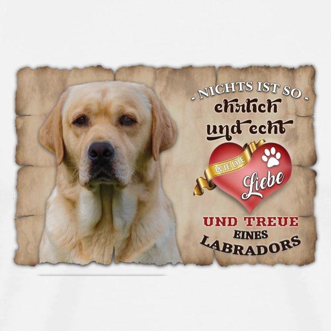 Gelber Labrador Retriever Liebe & Treue