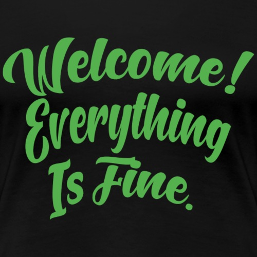 Welcome! Everything is fine.