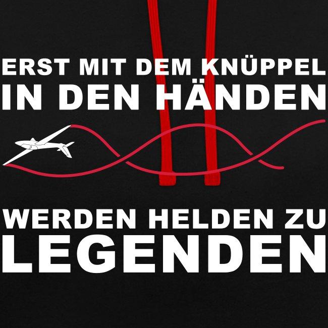 Segelflieger T-Shirt Geschenkidee Geburtstag Helden Legenden