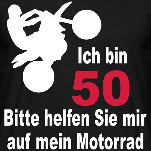 50 Geburtstag Motorrad T-Shirt - Männer