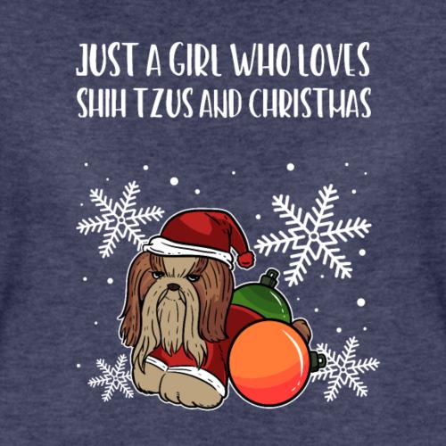 Cadeau de fille de Noël de chrysanthème de chien de jouet de Shih Tzu