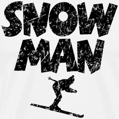 Snowman Ski Skiing Skifahrer