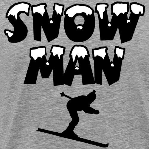 Snowman Ski Skifahren Skifahrer