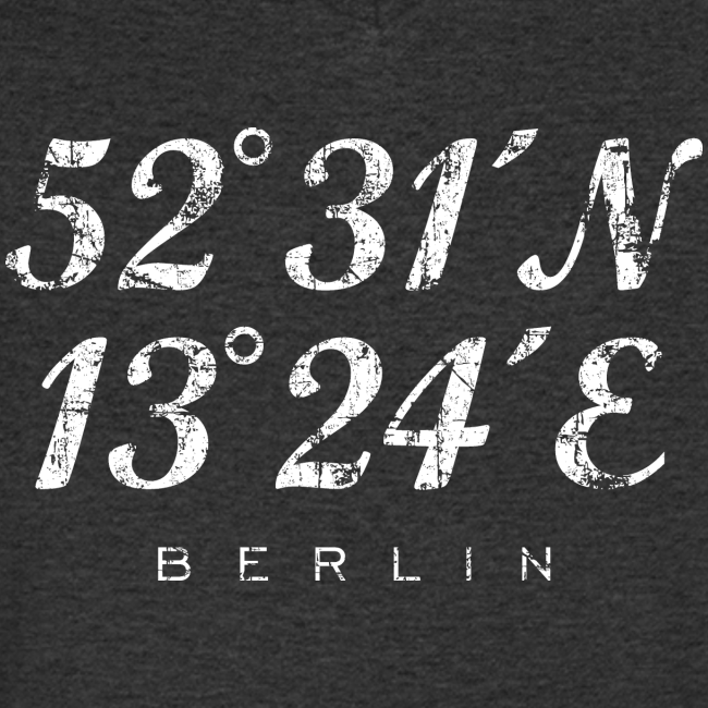 Berliner Koordinaten (Vintage/Weiß) Berlin