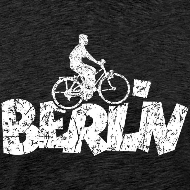Berlin Fahrrad für Berliner Fahrradfahrer (Vintage Weiß)