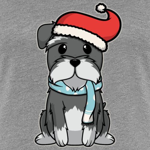 Cadeau de noël schnauzer chiot animal kid chien