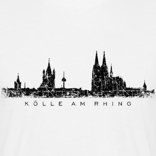 Kölle am Rhing Kölner Skyline Köln Vintage Schwarz