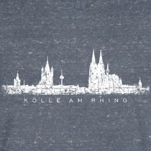 Kölle am Rhing Köln Kölner Skyline (Vintage Weiß)